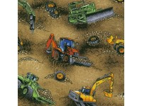 Earth Movers on Dirt, Diggers on Brown