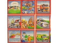 Book panel - Emergency police, fire engine, helicopter