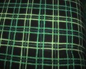 Harvest Flannel - Black and Green check - Plaid