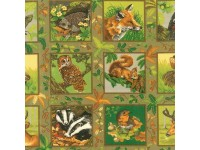 Friends of the Forest deer skunk Squares