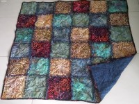Raggy Quilt. 1.05m square Blue Mountains, Harvest, Beach Outback
