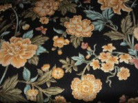 Gold Embossed Gold Flowers on Black - Memoirs of a Geisha