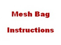 Mesh Bag Instuctions