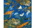Aquarium ocean animals, octopus, turtle, jelly fish, stingray