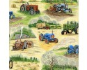 Old Tractors with Hay