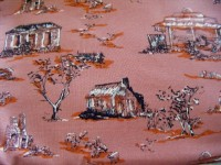 Rural Scene, Old Buildings, Sheep Grazing - Colour - Rust