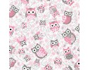 Pink and Grey Owls
