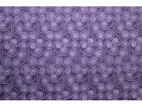 Chloe Collection Swirls Tone-On-Tone Purple