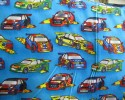 Racing Cars on Blue Background