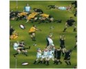 Rugby Football Depicting New Zealand / England