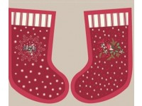 Christmas Stocking Panel. Stocking 40cm x 20 cm Colour Burgundy
