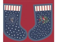 Christmas Stocking Panel. Stocking 40cm x 20 cm Navy Blue