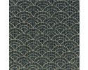 Yano Japanese Fabric - Waves on dark background