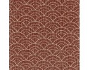 Yano Japanese Fabric - Waves on brown / burgundy Background