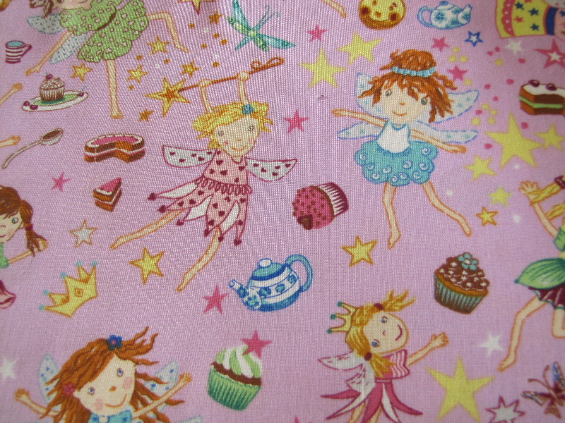Party Faries, Cup Cakes, Crowns, Stars, Mauvy Pink Background - Click Image to Close