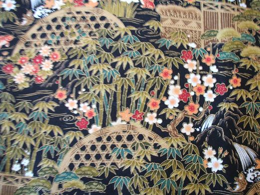 Asian Japanese Oriental Fabric
