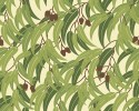 Green Eucalyptus Leaves & Gumnuts Coordinate for bird panel