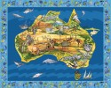 "Map of Australia Panel Large - Map Panel 36"" x 44"""