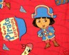 Dora the Explorer dressed as a pirate on Red Background