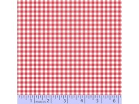 Zig Zag Collection Flannel - Small Bright Pink & White Check