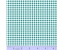 Zig Zag Collection Flannel - Small Aqua Blue & White Check