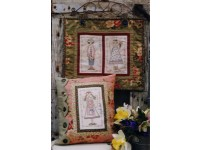 Garden Of Angels - Wall Hanging & Cushion Hatched and Patched