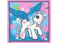 White My Little Pony Cushion / Pillow Panel
