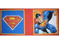 Superman front and back fabric pillow / cushion panel.