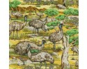 Emus Emu in the Wild Fabric Australian