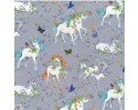 PPN - Unicorns Butterfly Unicorn on Grey Background Butterflies